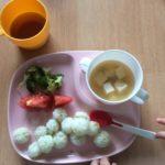 1歳4か月の離乳食(昼食編)ひと口サイズはよく食べる!